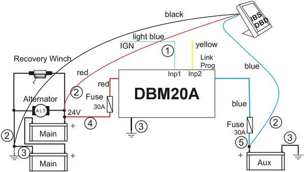 dbm20a 24v  12v trailer